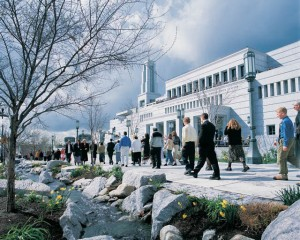 A picture of the Mormon Conference Center in Salt Lake City, Utah
