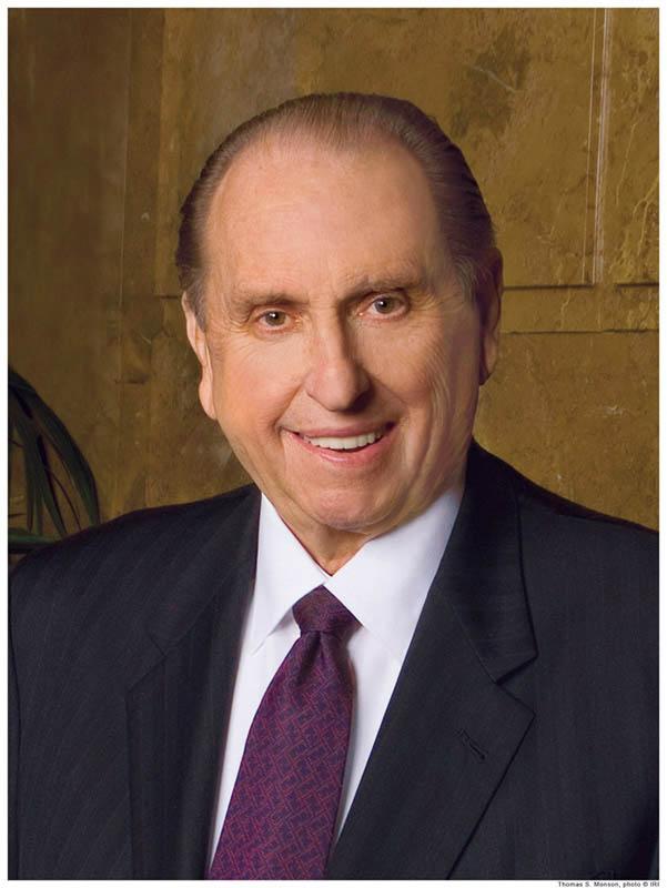 A picture of the Mormon prophet Thomas S. Monson.