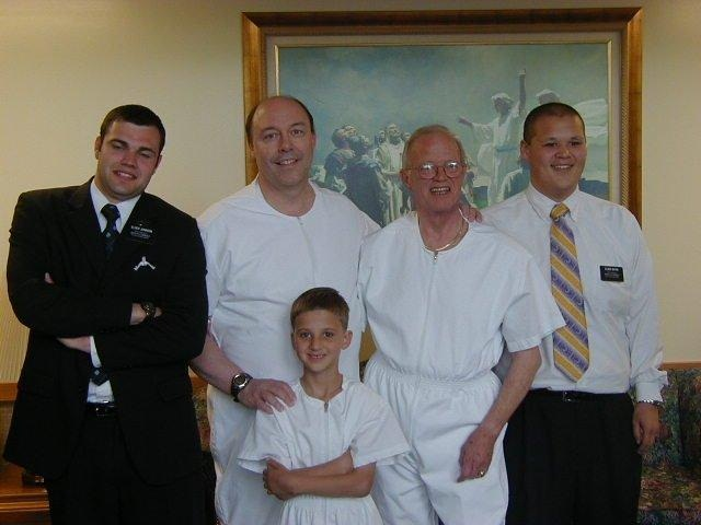 Mormon Baptism of Bob Smith