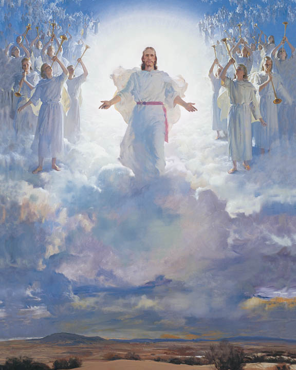 Painting of Jesus Christ during the Second Coming