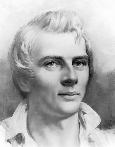 A drawing of the Mormon Prophet Joseph Smith