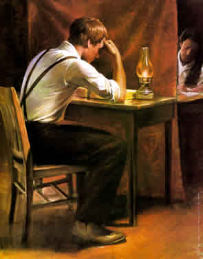 Joseph Smith Translating Book of Mormon