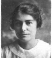 A black and white photograph portrait of Amy Ruth Tolley wife of Alma Sorensen.