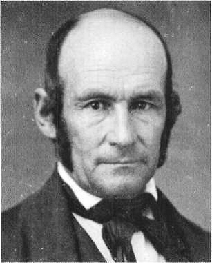 A black and white photograph portrait of Heber C. Kimball.