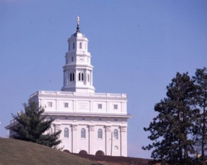 A picture of the Mormon Nauvoo Temple in Nauvoo, Illinois