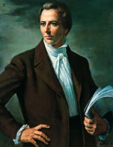 A painting of the mormon prophet joseph smith.