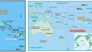 Society-Sicily Islands Map
