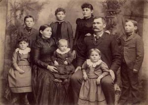 Mormon Pioneer Family Late 1800s