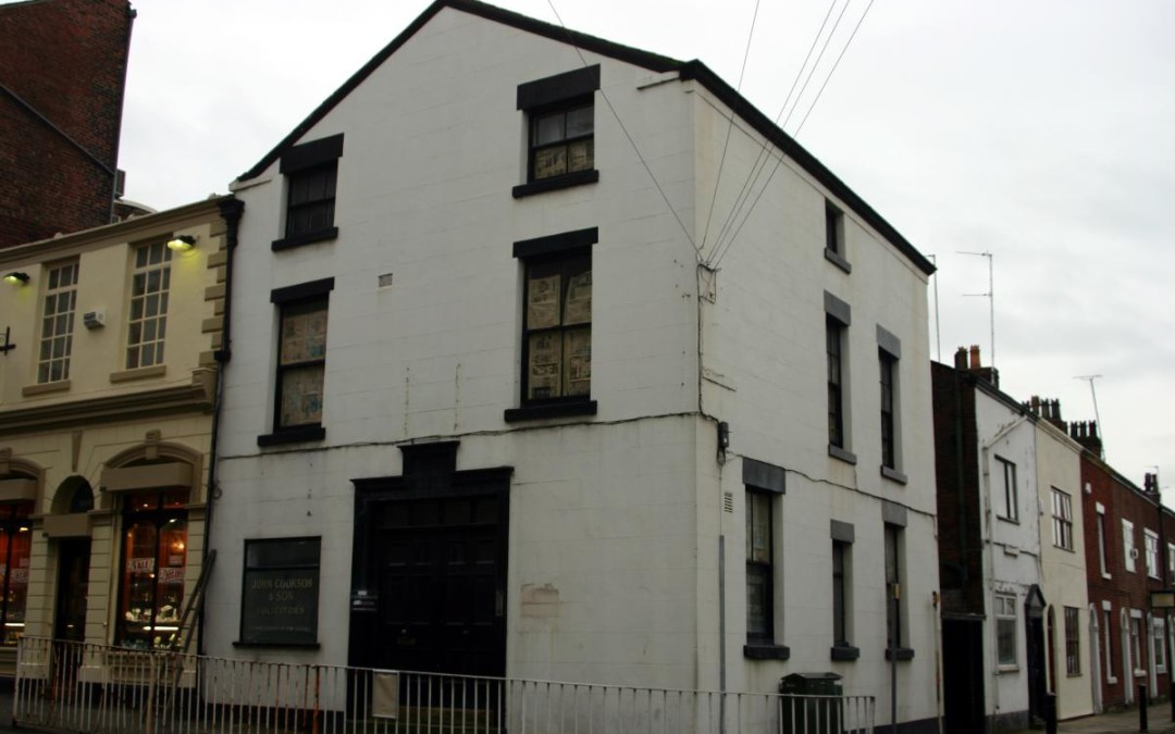 Missionay lodging on Wilfrid Street in Preston, England in 1837