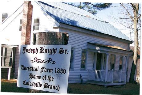 Joseph Knight Sr. Home in Colesville, New York