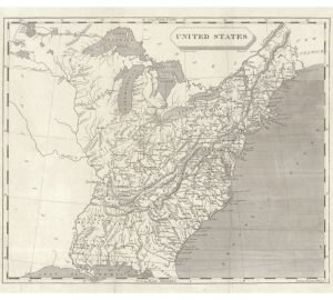 1805 United States Map